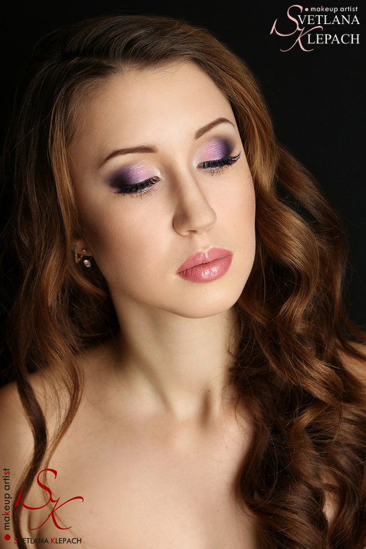 Фиолетовый макияж, Мои работы