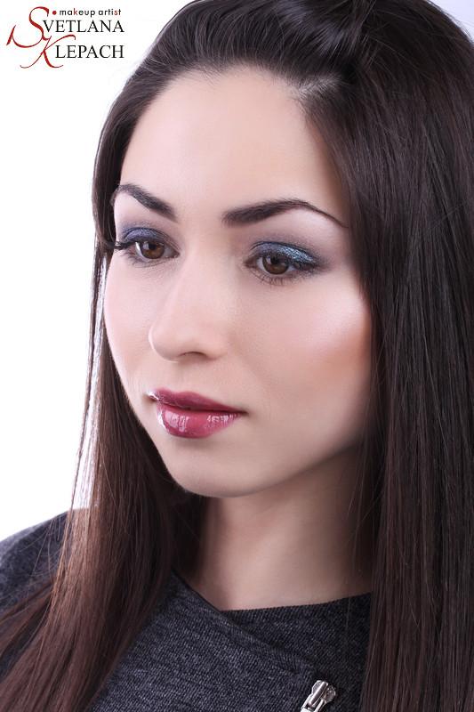Макияж для моего видео-урока. Трансформация в вечерний макияж, Мои работы