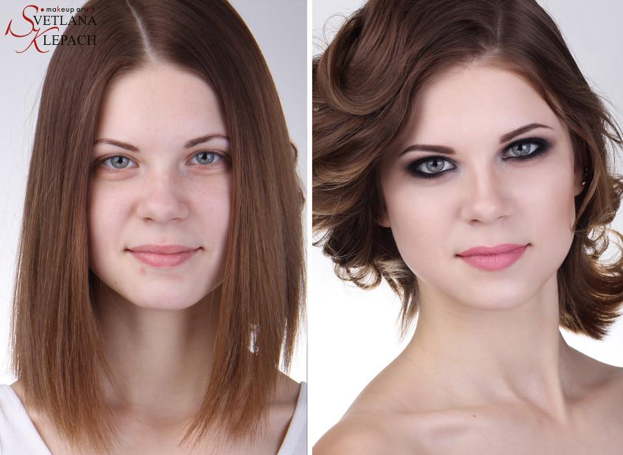 До и после. Черный смоки для моего видео-курса, Работы Светланы Клепач