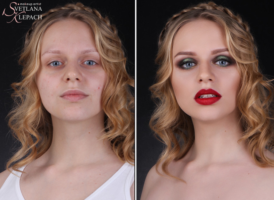 До и после. Макияж для моего видео-курса, Работы Светланы Клепач