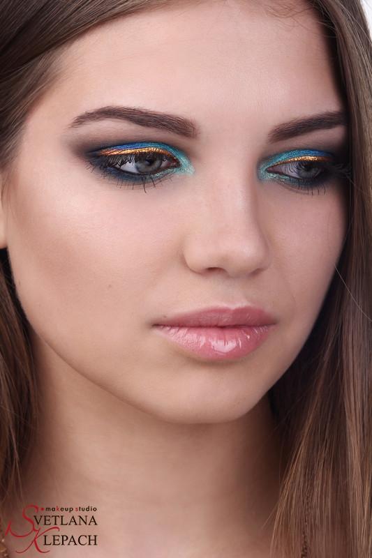 Яркий макияж с пигментами KLEPACH.PRO, Мои работы