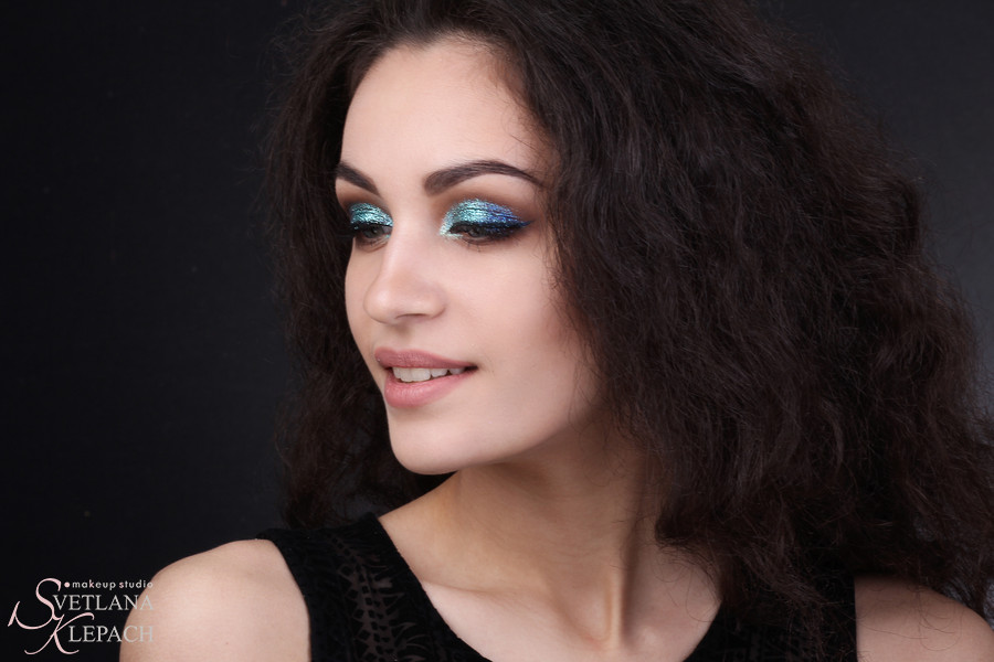 Блестящий макияж для фотосессии, Мои работы