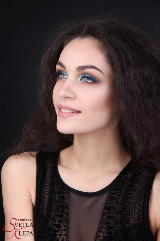 Блестящий макияж для фотосессии, Работы Светланы Клепач