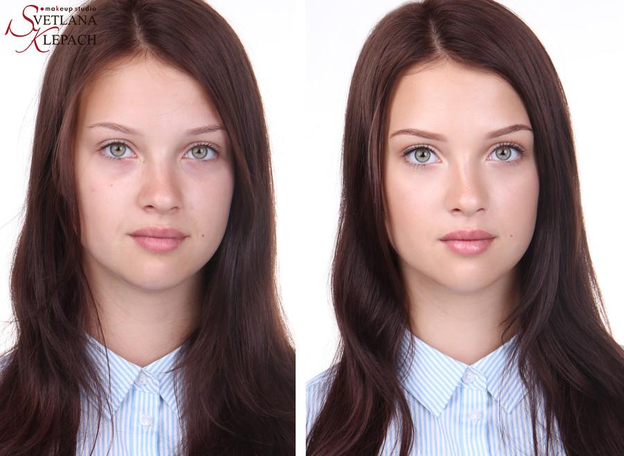 До и после. Nude look и сияющая кожа, Работы Светланы Клепач