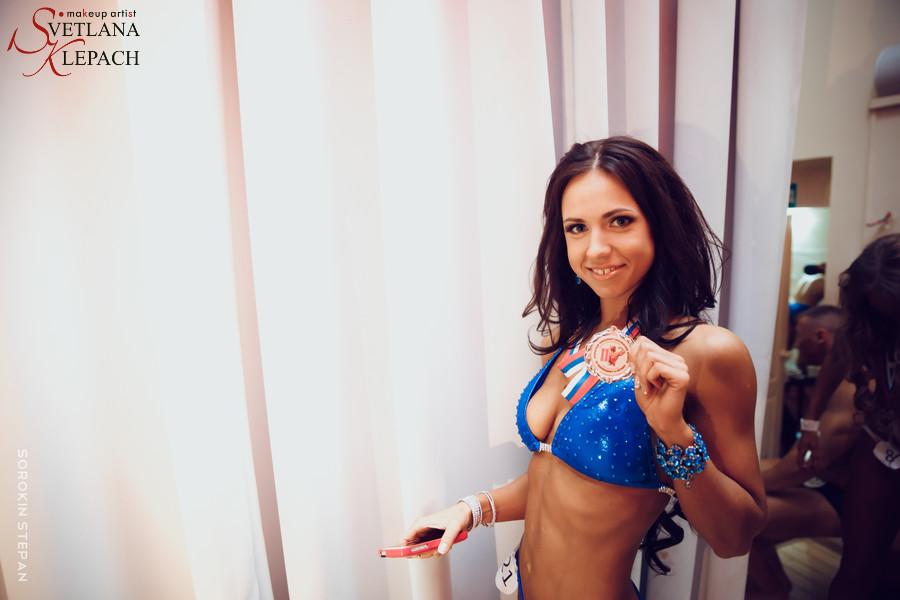 Макияж для вице-чемпионки в категории фитнес-бикини