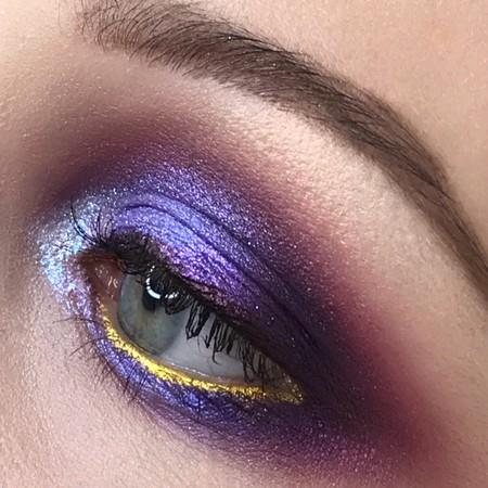 Вечерний макияж в сиренево-фиолетовой гамме. Пигменты KLEPACH.PRO